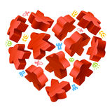 Concept of love by board games Stock Images