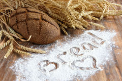 Concept of love of bread Royalty Free Stock Image