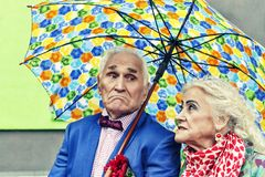 concept love, Elderly couple, Hipsters. family, happy, together, royalty free stock photography