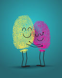 Concept of love. With fingerprint Stock Photography