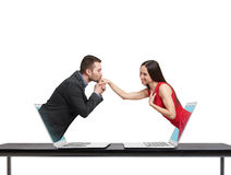Concept of love in social network Royalty Free Stock Image