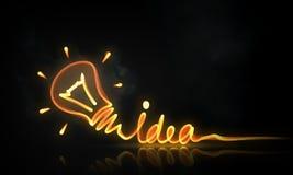 Concept lumineux d'idée photo libre de droits