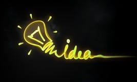 Concept lumineux d'idée image stock