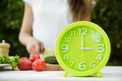 Concept lunch time Stock Images