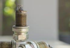 Concept mécanique de pièce de combusion de prise de bougie d'allumage Images libres de droits