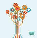 Concept médical d'arbre Images stock