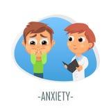 Concept médical d'inquiétude Illustration de vecteur illustration de vecteur