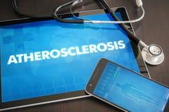 Concept médical de diagnostic d'athérosclérose (trouble cardiaque) sur merci image stock
