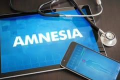 Concept médical de diagnostic de désordre neurologique d'amnésie sur l'étiquette Photo libre de droits