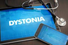 Concept médical de diagnostic de Dystonia (désordre neurologique) sur merci photo libre de droits