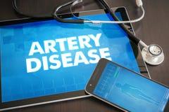 Concept médical de diagnostic de la maladie d'artère (cardiologie connexe) dessus images stock
