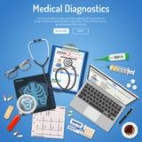Concept médical de diagnostics Images libres de droits