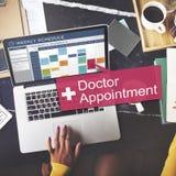 Concept médical de docteur Appointment Diagnosis Treatment photos stock