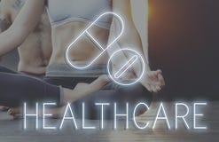 Concept médical de drogues de santé de traitement image stock