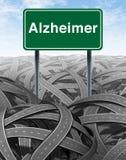 Concept médical de la maladie et de démence d'Alzheimer illustration stock
