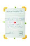 Concept médical de prescription Photographie stock