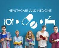 Concept médical de santé de médicament de médecine de soins de santé Images libres de droits