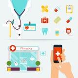 Concept médical, de soins de santé et de secours Premiers secours, médecines Image libre de droits