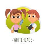 Concept médical de Whiteheads Illustration de vecteur illustration de vecteur