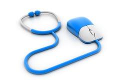 Concept médical en ligne illustration stock