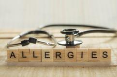 Concept médical et de soins de santé, allergies image stock