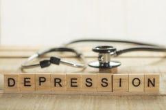 Concept médical et de soins de santé, dépression image libre de droits