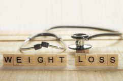 Concept médical et de soins de santé, perte de poids photo libre de droits