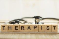 Concept médical et de soins de santé, thérapeute photo libre de droits