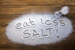 Concept médical mangez moins d'†de sel « photographie stock libre de droits