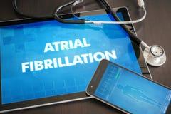 Concept médical o de diagnostic de fibrillation auriculaire (trouble cardiaque) photos libres de droits