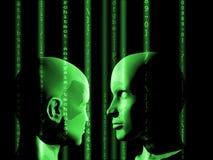 Concept machine die kunstmatige intelligentie leren te verbeteren Stock Foto
