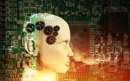 Concept machine die kunstmatige intelligentie leren te verbeteren Stock Fotografie