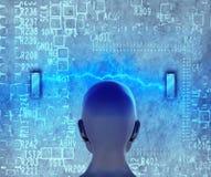 Concept machine die kunstmatige intelligentie leren te verbeteren Royalty-vrije Stock Foto's