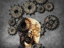 Concept of machine learning to improve artificial intelligence. And its ability of thinking Stock Image