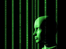 Concept of machine learning to improve artificial intelligence. And its ability of thinking Stock Photo