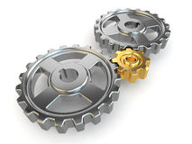 Concept, Main gear in mechanism. Royalty Free Stock Photos