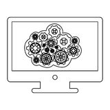 concept of maintenance service online of lcd monitor Stock Images