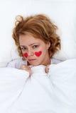 Concept malade d'amour de femme Images stock