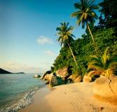 Concept malaisien de voyage de nature d'été de paysage marin de plage Images stock