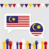 Malaysia event with supporter Stock Photos