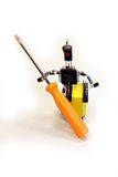 The concept - man with a screwdriver of electronic components Stock Photos
