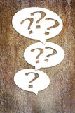 Concept of many questions and problems Royalty Free Stock Image
