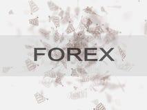 Concept marchand d'affaires de forex Concept de Bussinec Image stock