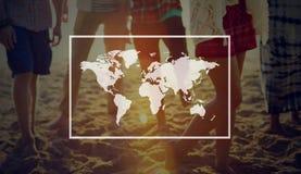 Concept marchand de mise en réseau internationale globale de croissance Photographie stock