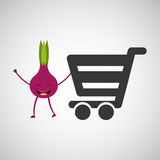 Concept market buy fresh beet Royalty Free Stock Photography