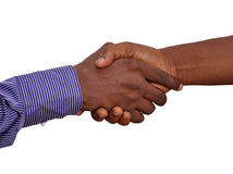 CONCEPT OF MARKET CONCLUSION. Two businessmen greeted themselves amicably by approving their various agreements as a concept of conclusion of the market Stock Images