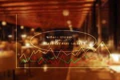 Concept of market trends for elegant restaurants Royalty Free Stock Photos