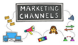 Concept of marketing channels Stock Photography