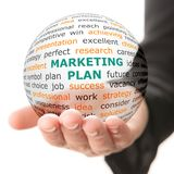 Concept of Marketing plan in business Royalty Free Stock Photos