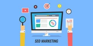 Seo marketing, digital media marketing, website optimization, networking, seo planning. Royalty Free Stock Photo